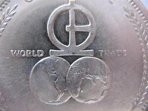1-OZ.999 1972 SILVER UNIVERSARO WORLD TRADE BARTER COIN 2013 $ CRASH INS + GOLD