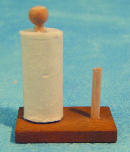 1:12 Scale Kitchen Roll on en bois Stand tumdee maison de poupées miniature 1506