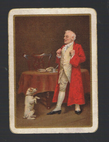 "Swap Playing Cards 1 VINT  WIDE  /""LORD OF THE MANOR/""   /& HIS CLEVER DOG 198EW"