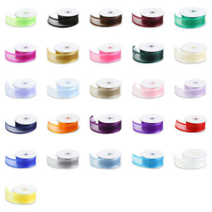 Organza-Ribbon-25-Yd-Yard-Roll-3-8-034-5-8-034-7-8-034-1-5-034-1-1-2-in-Inch-Wide