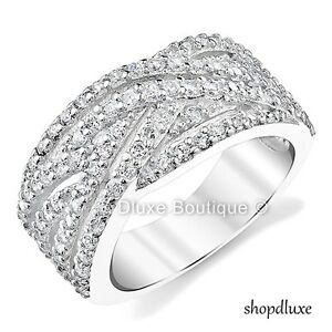 1-25-CT-ROUND-CUT-CZ-INFINITY-WIDE-BAND-925-STERLING-SILVER-WOMEN-039-S-FASHION-RING