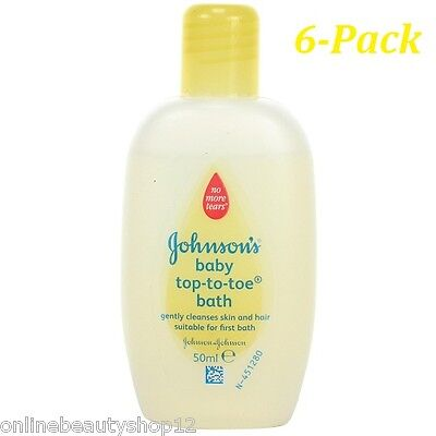 Johnson's Baby Top-To-Toe Bath 50ml  6-Pack