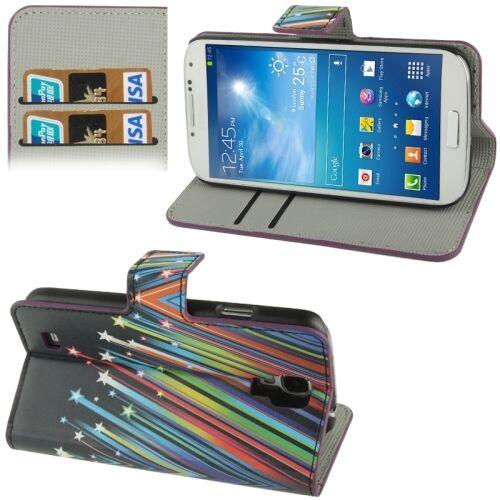 CUSTODIA COVER FINTA PELLE PER SMARTPHONE SAMSUNG GALAXY S4 SIV I9500 SMG-80