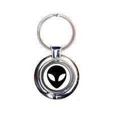 Alien Head Keychain Key Ring