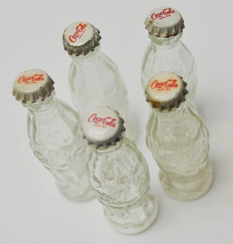 Coca-Cola Coke Mini Botella 6cm Miniatura Vidrio Botella Ee.uu 1970er