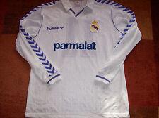 Real Madrid 1989 1990 coinciden con emitido Butragueno #11 L/S Camiseta De Fútbol Camiseta