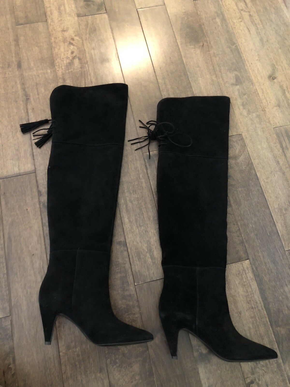 Nine Nine Nine West Black Suede Boots.Size6 W. 91ca6c