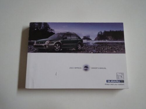 2003 SUBARU IMPREZA OWNERS OPERATORS MANUAL FOR GLOVE BOX NICE ORIGINAL