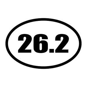 Choose Size /& Color race miles Marathon // Decal Sticker running 26.2