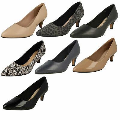 Mujer clarks Charol sin Cordones Puntiagudo bajo Zapatos de Tacón Linvale Jerica | eBay