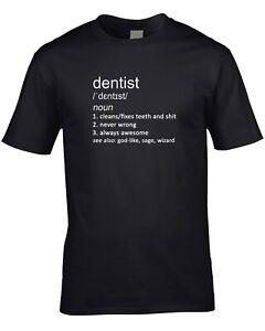 Orthodontiste Women/'s Ladies T-Shirt Drôle Cadeau définition médecin dentiste Job