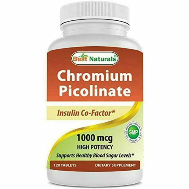 Best Naturals Chromium Picolinate 1000 Mcg 120 Tablets For Sale Online Ebay