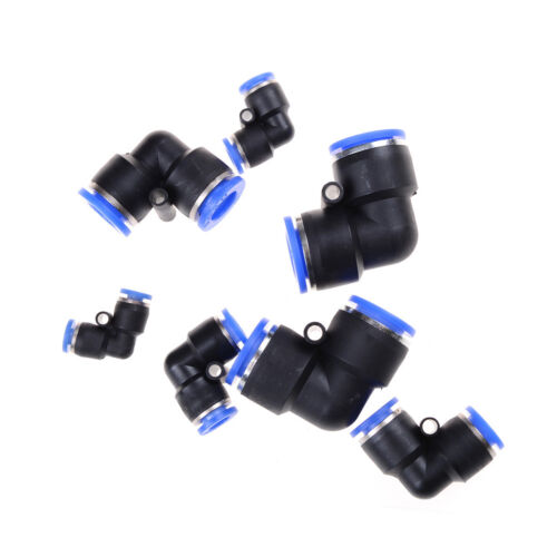 5Pcs Pneumatic Push In Elbow Fitting Connector PV for Water Hose Tube Airline FO