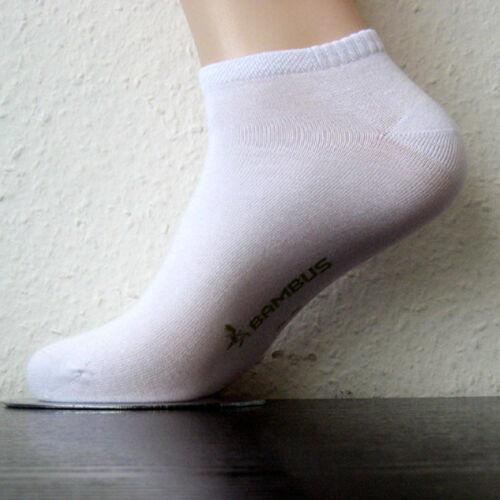3 Paar RS Sneaker Herren Bambus Socken mit Softrand weiß 39 bis 46