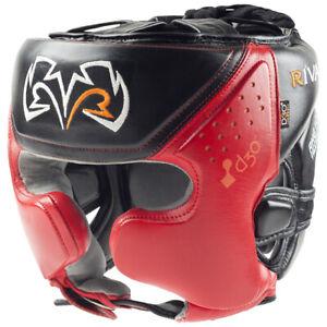 Rival Boxing RHG10 Intelli-Shock d30 Headgear, Black/Red - mma training sparring