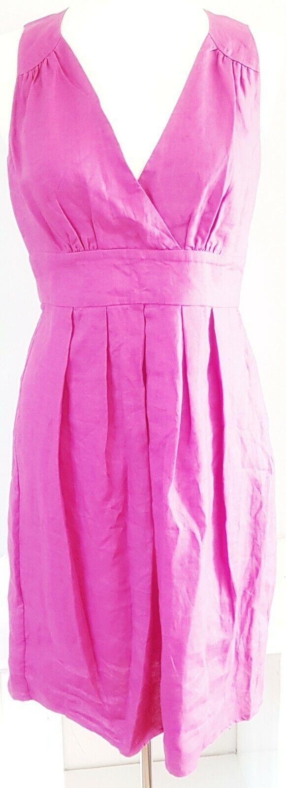 Great Plains Women's Dress Pink Size Medium 100% Linen VGC