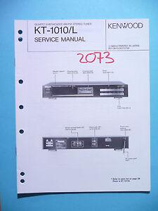 Anleitungen & Schaltbilder Service Manual-anleitung Für Kenwood Kt-1010l original Schnelle Farbe