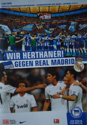 Real Madrid Programm Friendly 2011//12 Hertha BSC Berlin