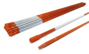 Pack of 25 Driveway Markers, Snow Poles, Stakes, Rods, 48 inches, 5/16 inch