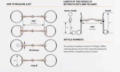 Sprenger DUO Flexible Gentle Loose Ring Straight Bar Snaffle Bit 115mm-145mm