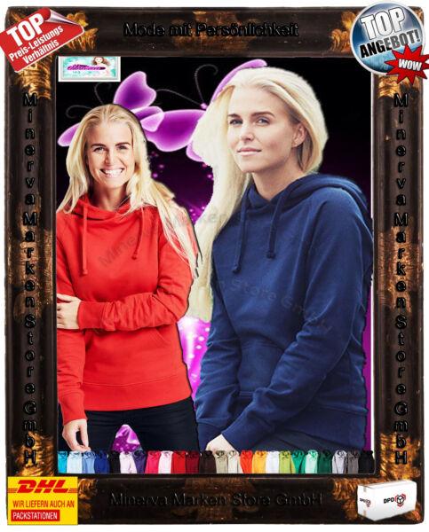 Warmer Hoodie Kapuzenpullover Sweat 14 Farben Bio-Baumwolle Gr: XS-XXL