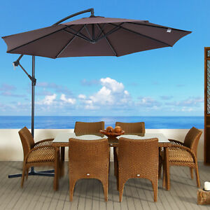 Outsunny-3M-Hanging-Banana-Parasol-Sun-Shade-Garden-Patio-Umbrella-Cantilever