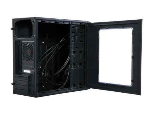 Rosewill FBM-X1 Black Steel Plastic ATX Mini Tower Case with Side Panel Window
