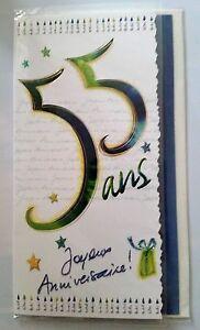 B Cartes Joyeux Anniversaire 55 Ans Enveloppes Ebay