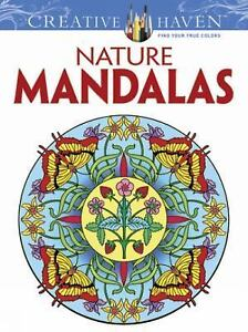 Image Is Loading Nature Mandalas Adult Coloring Book Wiccan Pagan Supply