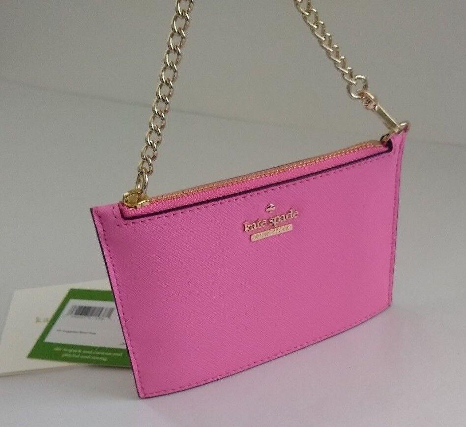 d26d60baf0bc2 Kate Spade Caroline Pouch Wristlet Cameron Street Marguerite Bloom Pink for  sale online