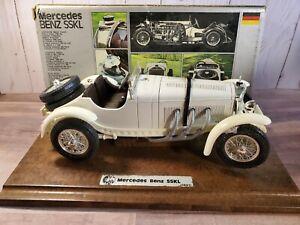 Bburago-1931-Mercedes-Benz-SSKL-1-18-Scale-Diecast-Diamonds-Car-Wood-Base-3002