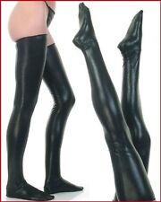 BAS cuissarde GUETRE VINYL NOIR pour robe combinaison lingerie sexy cuir legging