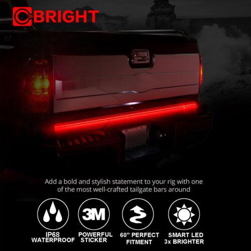 "60/"" Dual LED Tailgate 216 LED Bar Turn Signal Back Up Brake Light for RAM"