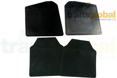 NEW PAIR FRONT MUDFLAPS LAND ROVER DEFENDER FRONT MUDFLAPS RTC4685