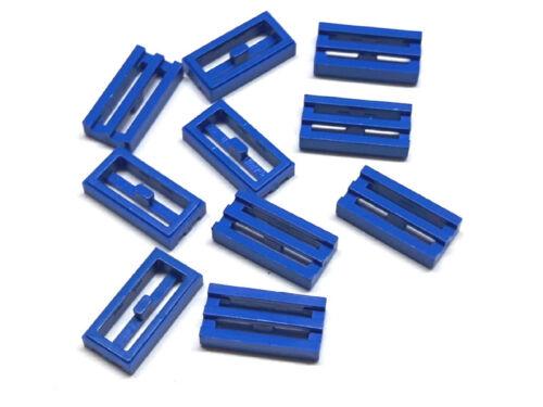 241223 Lego Fliese Gitter 1 x 2 Blau 10 Stück