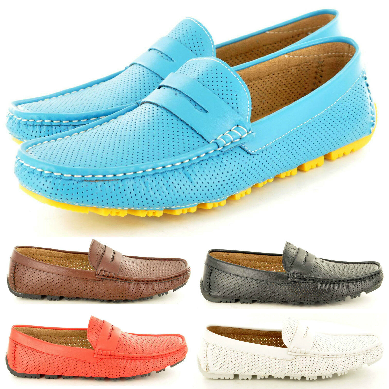 New Mens Soft Loafers & Comfy Casual Penny Loafers Soft Moccasins Slip on Shoes UK Sizes 6-11 f67f55