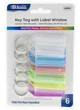 Key Tags With Holder Amp Label Window Help You Stay Organize Brand New 6pack