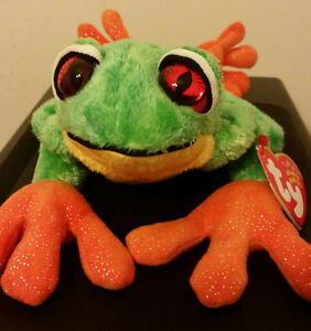 Image is loading Ty-Beanie-Baby-PANAMA-the-Tree-Frog-MWMT d7e18f45122