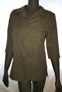 Ladies-Size-12-Khaki-SAFARI-Style-3-4-Sleeved-Top-BNWT-Noni-B