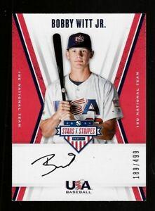 2019-Panini-Stars-amp-Stripes-Bobby-Witt-Jr-Autograph-Rookie-Card-499
