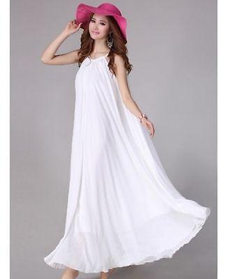 Plus Size M-6XL Women Chiffon Summer Boho Evening Party Beach long Maxi dress