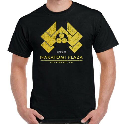 Die Hard Nakatomi Corporation Logo Distressed Adult T-Shirt