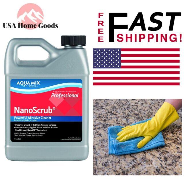 Aqua Mix NanoScrub Stone, Tile, & Grout Cleaner