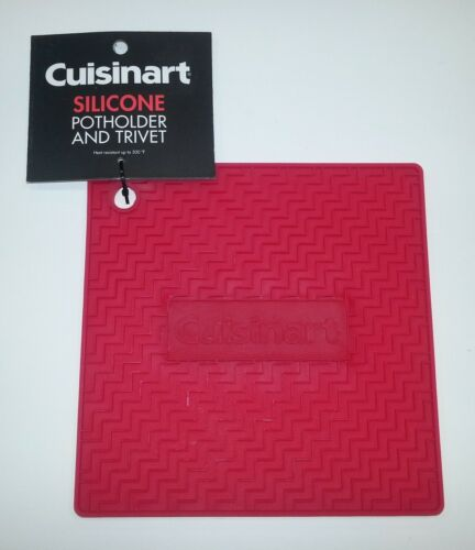 """Cuisinart Heat Proof Silicone Pot Holder or Trivet 7 1//4/"""" in Color Yellow"""