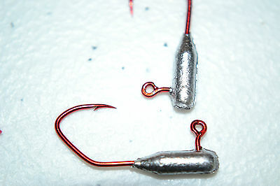 1/32 TUBE / INSERT JIG HEADS #4 MATZUO RED SICKLE HOOK 100 CRAPIE BASS WALLEYE