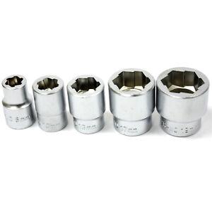 5pc 3 8 Dr Twist Socket Bolt Extractor Set Stud Nut Metric 8 10 13 17 19mm Ebay