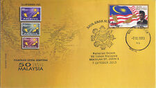 Malaysia 2013 50th Years Malaysia Stamp Exhibition at St. John souvenir cover t