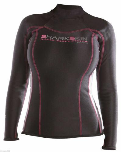 00 U.S // AUS 6 NEW Sharkskin Women/'s Chillproof Long Sleeve Shirt Wetsuit