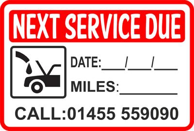 Service de Rappel Autocollant Personnalisé Avec Votre Numéro Garage Autocollant Qté 100