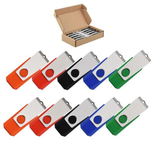 10Pack 32GB USB Flash Drive Rotating Pendrive Thumb Momery Sticks Storage USB2.0